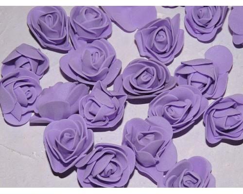 Роза 35 мм из фоамирана, цв. фиолетовый - 1 шт.