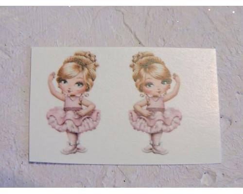 """Термонаклейка """"Балерина 3"""" высота - 2,5 см (пара)"""