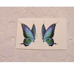 """Термонаклейка """"Бабочка"""" высота - 2.5 см, ширина - 1,5 см (пара)"""