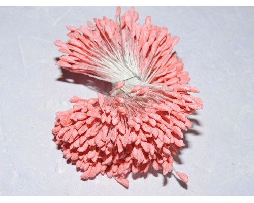 Тычинки для цветов 6 мм, цв. постельный красный  - 30 нитей (1 пучок)