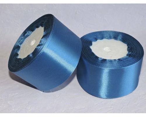 Атласная лента 50 мм, цв. светло-синий № 096