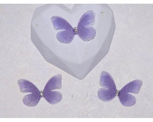 Бабочка шифоновая маленькая 3 см, №36 - 1 шт