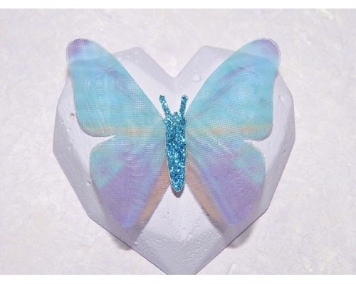 Бабочка шифоновая большая  6 см, №12 - 1 шт