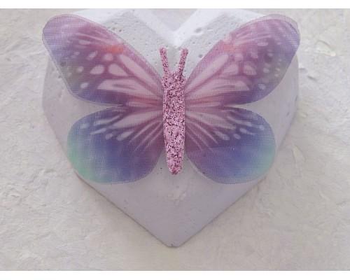 Бабочка шифоновая большая  6 см, №7 - 1 шт