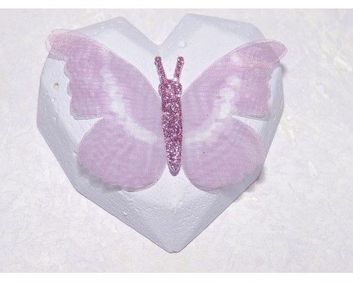 Бабочка шифоновая большая  6 см, №10 - 1 шт