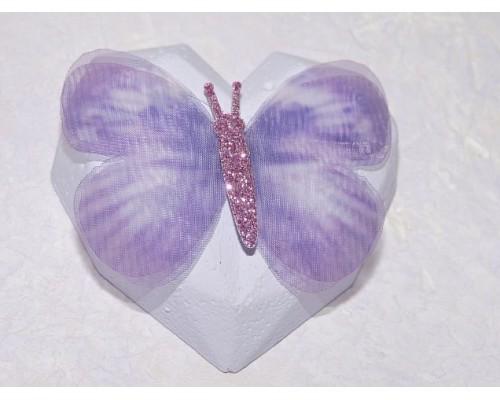 Бабочка шифоновая большая  6 см, №11 - 1 шт