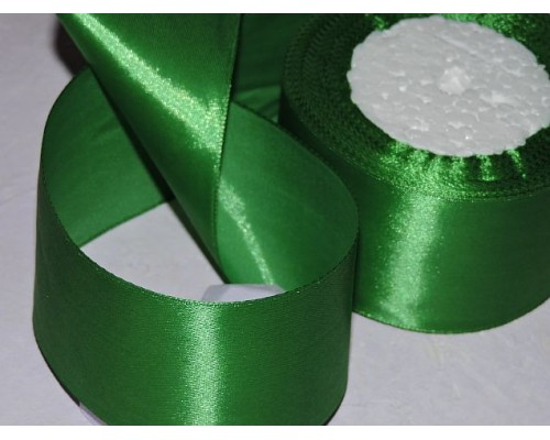 Атласная лента 50 мм, цв. зеленый №118