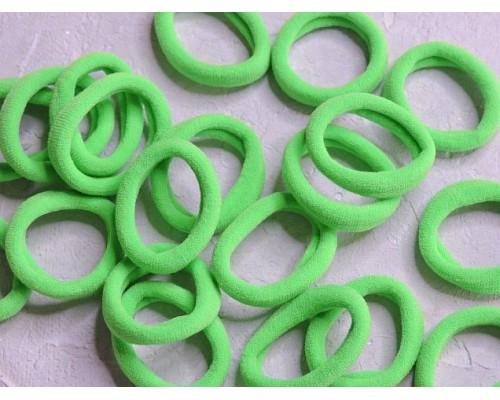 Резинка бесшовная для волос 3 см, цв. светло-зеленый - 1 шт.