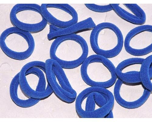 Резинка бесшовная для волос 3 см, цв. синий - 1 шт.