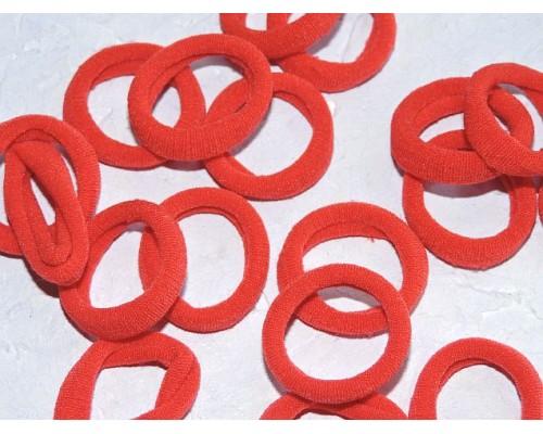 Резинка бесшовная для волос 3 см, цв. красный - 1 шт.