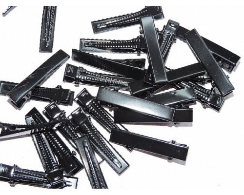Зажим металлический 3,3 см, цв. черный - 1 шт.