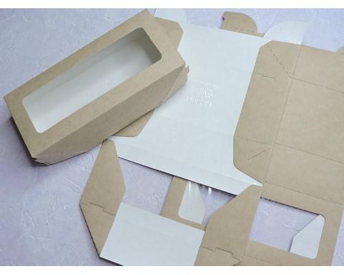Коробка крафтовая с окошком 17*7*4 см - 1 шт.