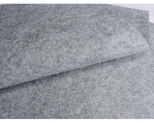 Фетр жесткий 1 мм, цв. серый - 1 лист.
