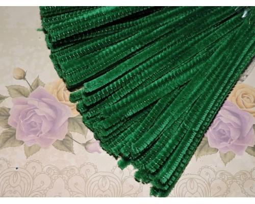 Проволока синельная, цв. темно-темно-зеленый  - 1шт