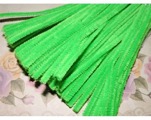 Проволока синельная, цв. зеленый  - 1шт