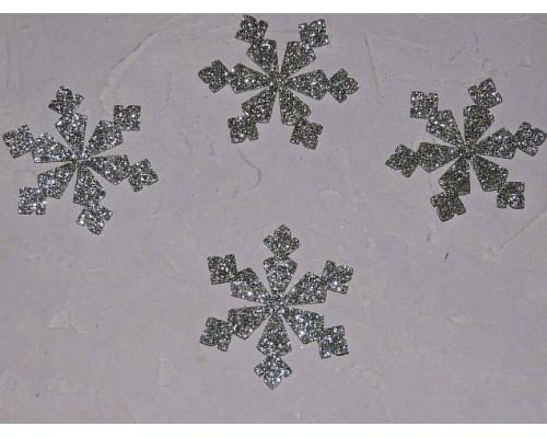"""Заготовка фигурка """"Снежинка 7"""" 5*5 см, цв. серебро - 1 шт"""
