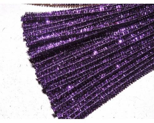 Проволока синельная металлик, цв. фиолетовый - 1 шт