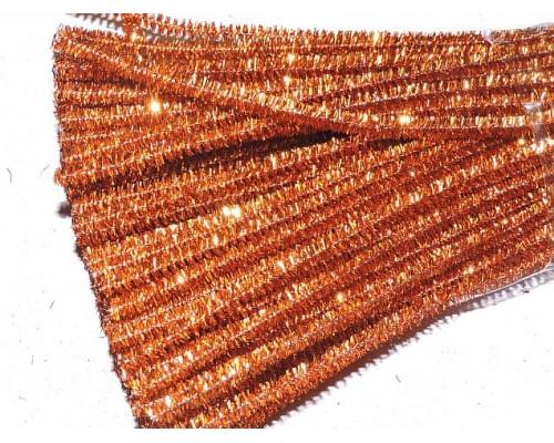 Проволока синельная металлик, цв. оранжевый - 1 шт