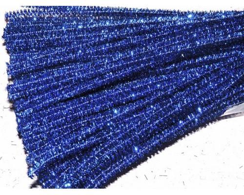 Проволока синельная металлик, цв. синий - 1 шт