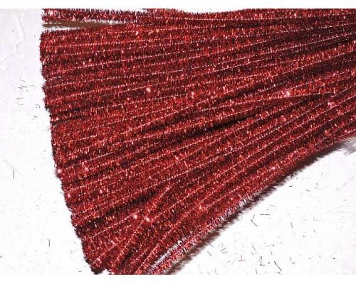 Проволока синельная металлик, цв. красный - 1 шт