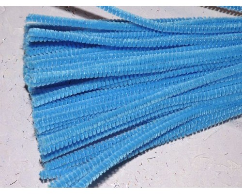 Проволока синельная, цв. бирюзовый - 1 шт
