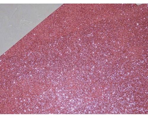 Фоамиран глиттерный 2 мм (20*30 см), цв. розовый - 1 лист