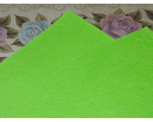 Фетр жесткий 20*30 см толщина 1 мм, цв. салатовый - 1 лист
