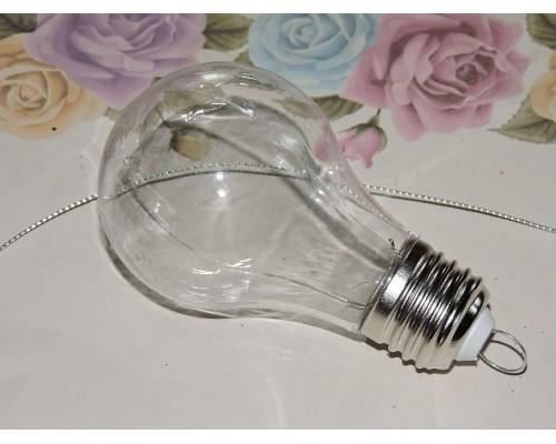 """Пластиковая основа для декора 6*9 см """"Лампочка"""" - 1 шт"""