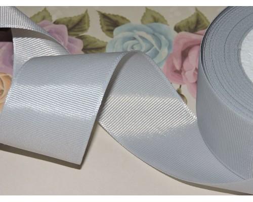 Репсовая лента 40 мм цв. серый - 1 м