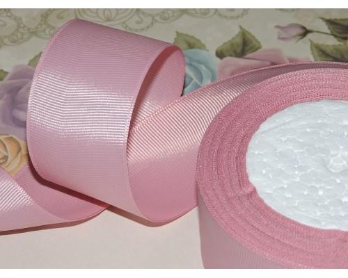 Репсовая лента 40 мм цв. пепельно-розовый - 1 м