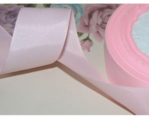 Репсовая лента 40 мм цв. нежно-розовый 2 - 1 м