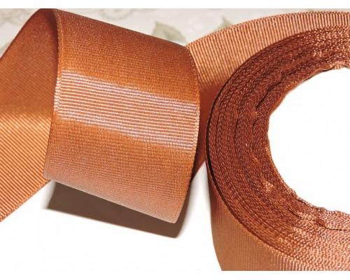 Репсовая лента 40 мм цв. коричневый - 1 м