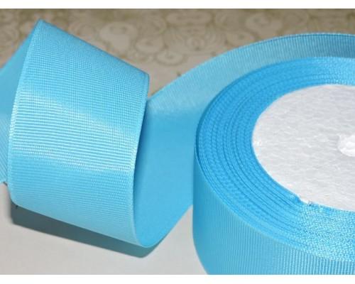 Репсовая лента 40 мм цв. голубой - 1 м