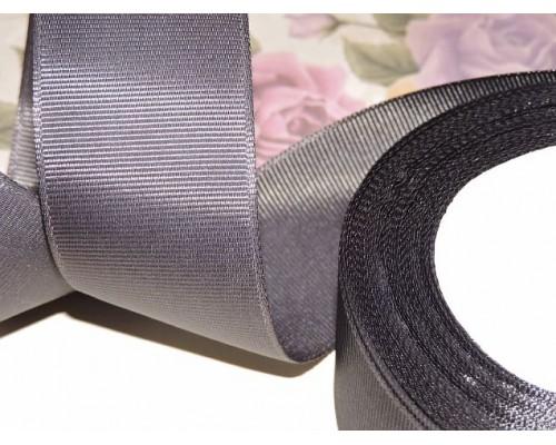 Репсовая лента 40 мм цв. графитовый серый - 1 м