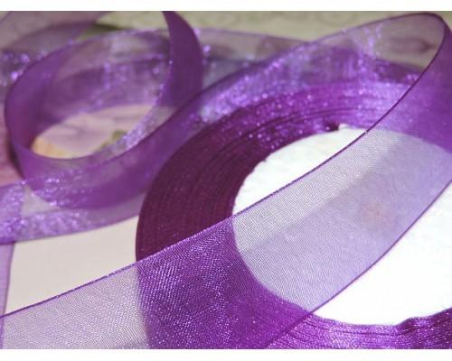 Органза 25 мм, цв. светло-фиолетовый - 1м